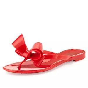 Valentino Red Bow Rubber Sandals